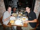Mit Sebastian und Paulo beim Abendessen
