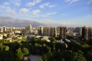 Ausblick von 21. Stock auf Santiago de Chile