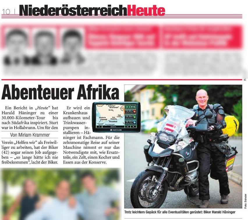 Bericht Zeitschrift Heute Niederösterreich